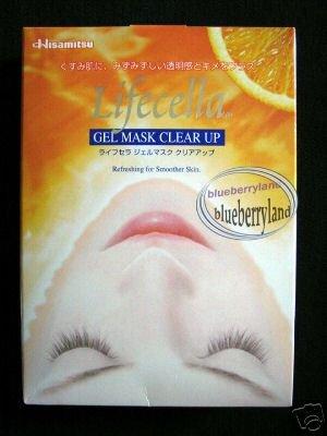 Japan Hisamitsu LIFECELLA Gel FACE Mask Clear Up ladies