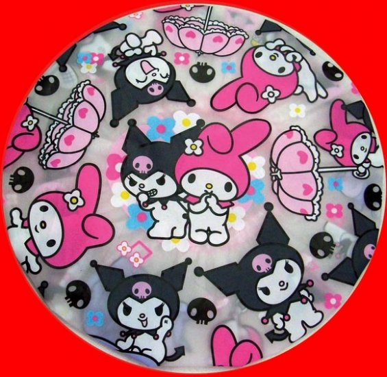 Kuromi My Melody + Hello Kitty Shower Cap Children Adult girls bathroom bath Gift Set of 2