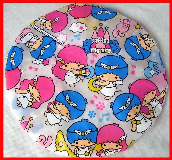 Little Twin Stars + Hello Kitty Shower Cap Children Adult girls bathroom bath Gift Set of 2