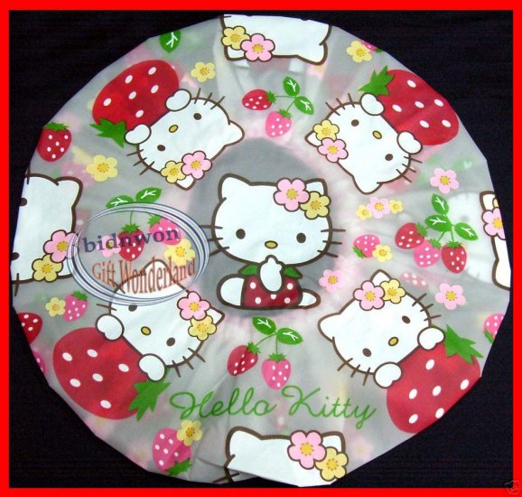 Hello Kitty Shower Cap ladies girls bathroom accessories