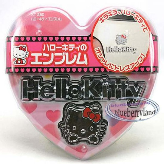 Japan Sanrio Hello Kitty Car Body Plate Decoration Charm