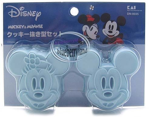 Japan Mickey & Minnie Mouse Cookie cutter Stamp mold mould