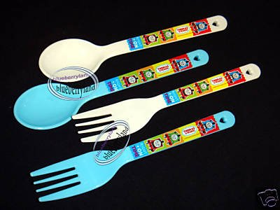 Thomas & Friends Fork Spoon set Bento access cutlery 4p