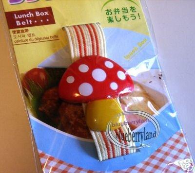 Japan 3D Mushroom Bento Lunch box Strap Belt bento case