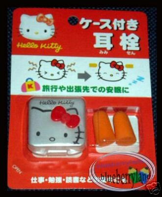 Japan Sanrio HELLO KITTY Sleeping Earplug Ear Plug Travel