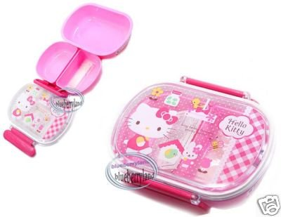 Sanrio Hello Kitty Microwave Bento Lunch Box Food Container RE