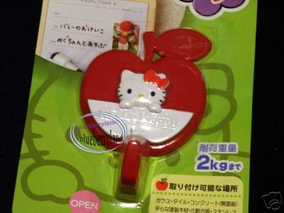 Sanrio HELLO KITTY Adhesive red APPLE Hook home kitchen