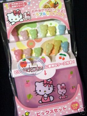 Japan Sanrio Hello Kitty 12 Food Picks Bento accessories Party