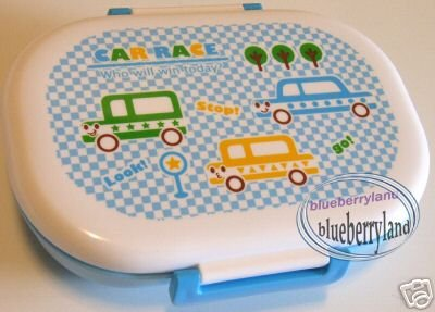 Japan Bento Lunch Box Microwave Food Container Car Race