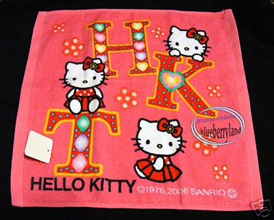 Japan Sanrio HELLO KITTY Hand Towel bathroom kids