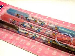 Sanrio Hello Kitty Ball Pen stationery writing x 3 Pcs