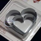 Japan Cookie biscuit Mold Cutter Die Bento HEART mould  x 2 Pcs