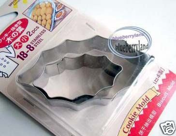 Japan Homemade Cakeware Cookie biscuit Mold Cutter Die Bento LEAF mould x 2 Pcs
