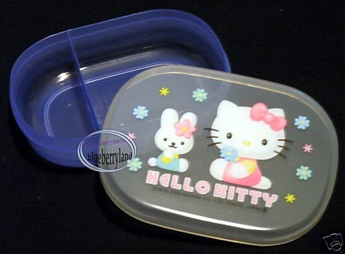 Sanrio Hello Kitty Snack Bento Lunch Box Food Container case Microwave OK