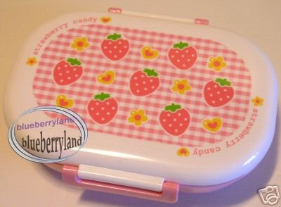 Japan Strawberry Microwave Bento Lunch Box Food Container