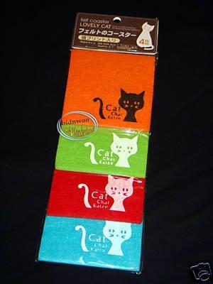 Japan Cat COASTER drink mug cup beer Coasters chat katze