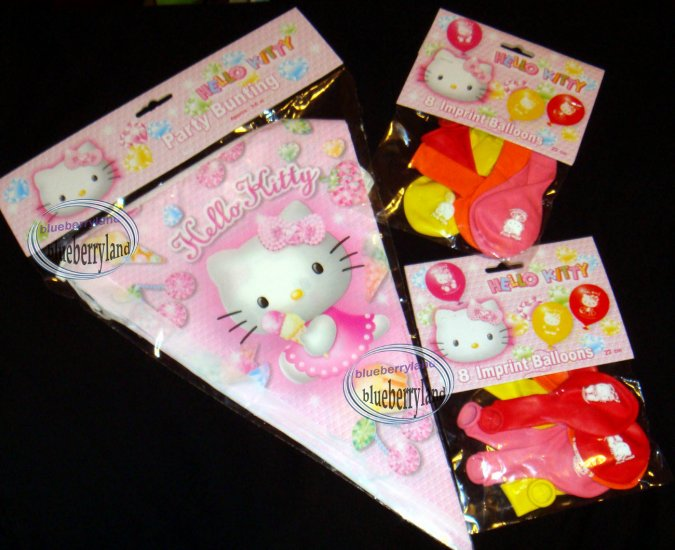Sanrio Hello Kitty 16 balloons Party Supplies Decor Bunting