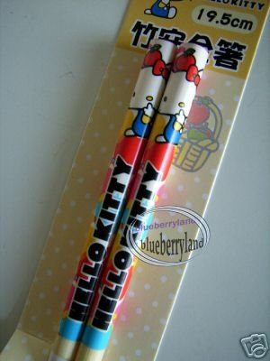 Japan Sanrio HELLO KITTY Chopsticks bento acc ladies Q