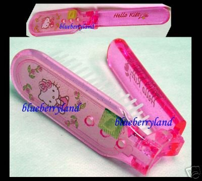 Sanrio HELLO KITTY Children Folded hair Comb pink