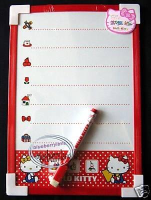 Sanrio HELLO KITTY White Board + Marker Eraser message