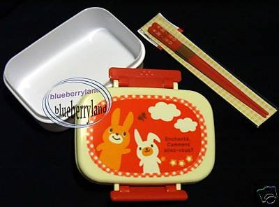 Japan Rabbit Bento Lunch Box with Chopstick 2 Pcs Set