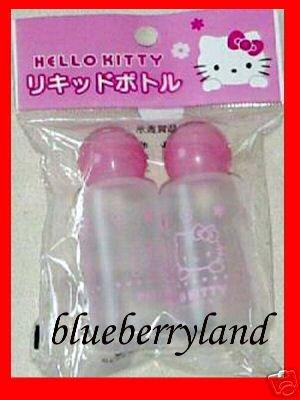 Sanrio HELLO KITTY Travel storage Screw Cap Bottles  x 2 Pcs