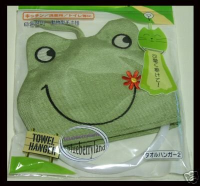 Japan Frog Towel Hanger Bathroom bath Towels