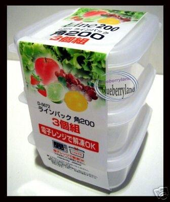 Japan Microwave Snack lunch box Food case vegg fruit 3p