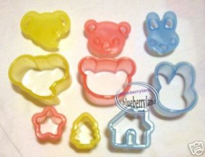 Japan 6 Food Mold cutter cookie Cutters Molds set mould
