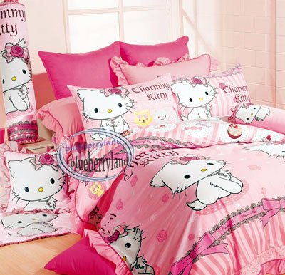 Sanrio CHARMMY KITTY Bedding Set Double Size Duvet Cover Fitted Sheet 4pcs Set