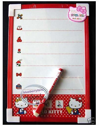 Sanrio HELLO KITTY White Board + Marker Eraser message anime