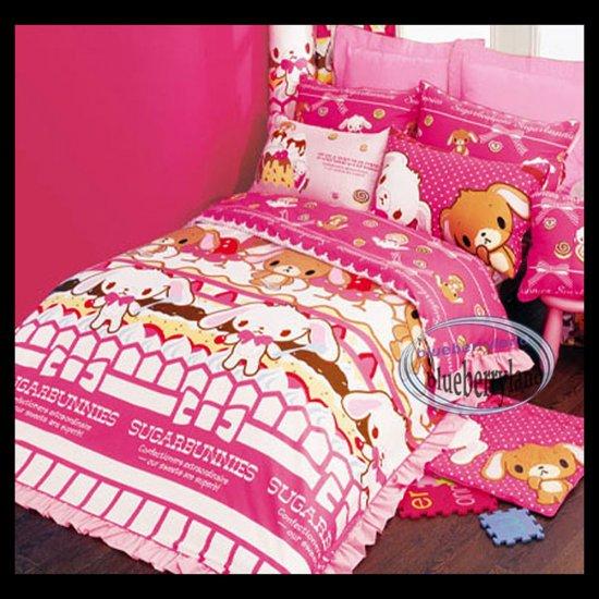 Sanrio Sugarbunnies  Bedding Set Double Size Duvet Cover Fitted Sheet 4pcs Set