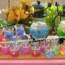 Home Interior Romantic Valentine Jar Candles & Candle Metal Lantern Set of 22 Pcs