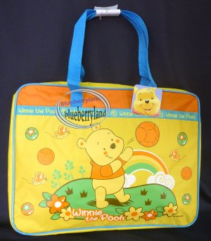 DISNEY WINNIE THE POOH Satchel Tote Bag Back to School Tote Bag Handbag Yellow