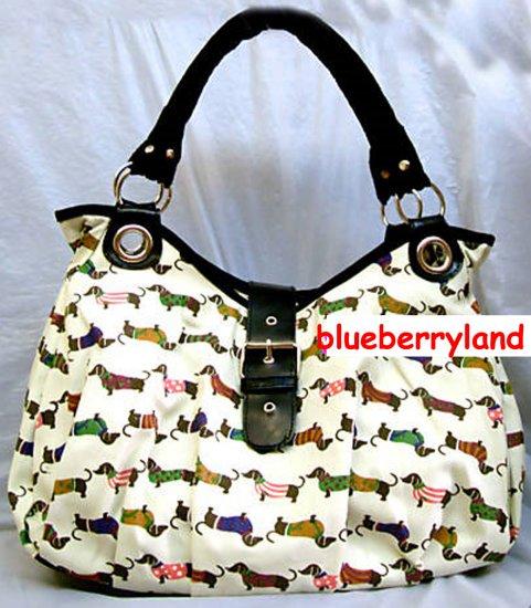 Dachshund Dog Canvas BAG Handbag Purse Dachsie Doxie - New