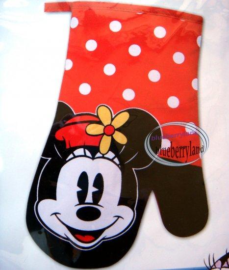 Disney Minnie Mouse Fabric Oven Glove Mitt Home Kitchen Adult