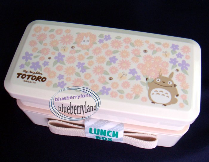 Japanese Style 2-Tiered TOTORO Bento Lunch Box with Belt