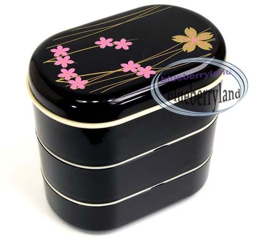 Japanese Style 3-Tiered Bento Lunch Box with Belt