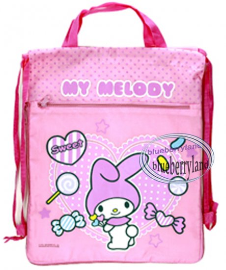 Sanrio My Melody Backpack BAG Beach Swim GYM Dance borsa Pink