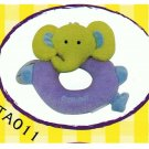"Japan Plush Squeaky Yellow Elephant 6.5"" Puppy Pet Dog Toy"