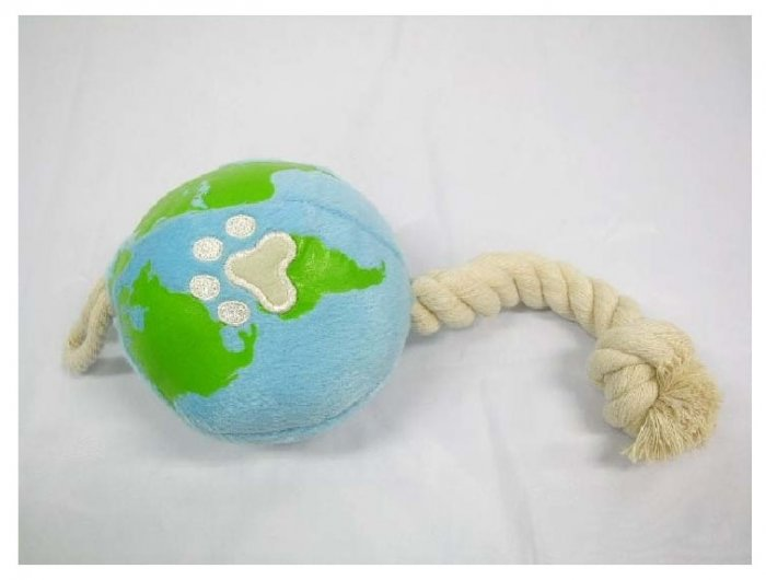 Japan Plush Squeaky Globe 12� Puppy Pet Dog Toy Toys
