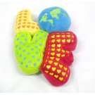 """Japan Plush Squeaky LOVE 6"""" Puppy Pet Dog Toy Toys"""
