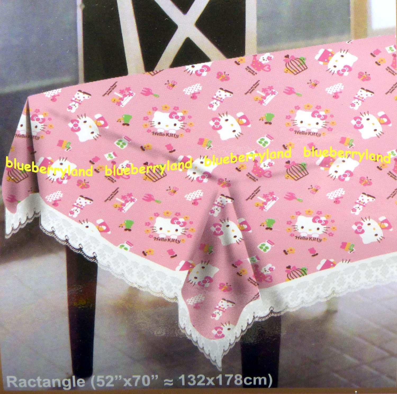 """Sanrio Hello Kitty Table Cloth 52 x 70 """" home"""