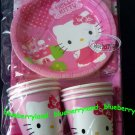 Sanrio Hello Kitty Party Supplies Plate Cup Napkin Tablecover set