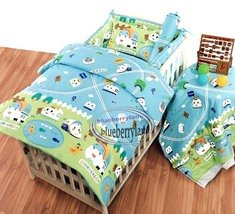 Shinkansen BABY Duvet Cover Fitted Sheet Pillowcase Set
