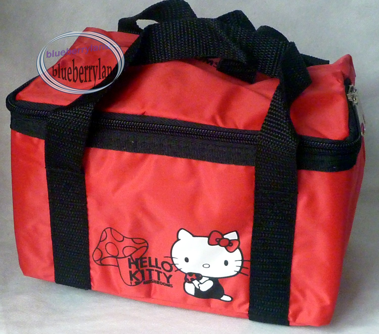 Sanrio Hello Kitty Insulated Cooler warmer BAG Bento Lunchbag Lunch Bag Red