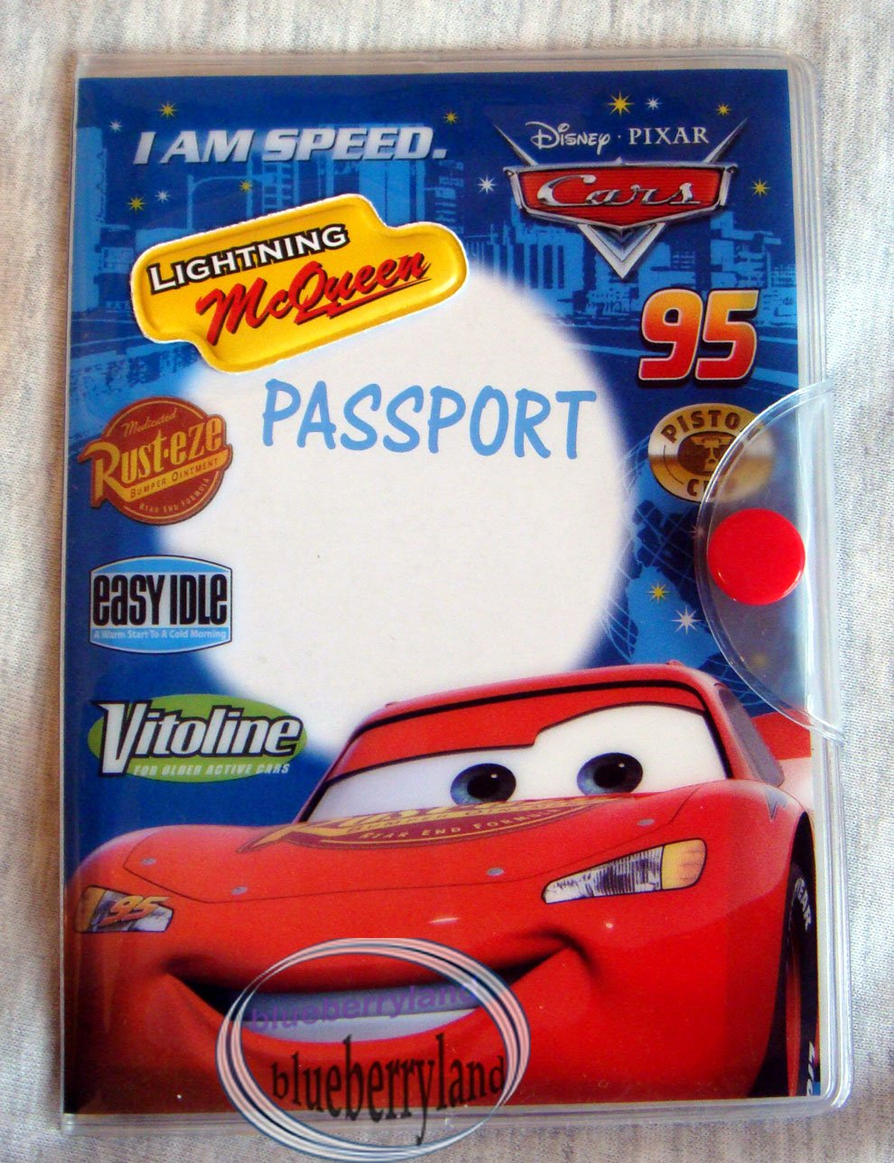 Disney Lightning McQueen Passport & ID Holder cover case kids