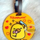 San-X Rilakkuma Relax Bear Kiiroitori Luggage TAG bag Travel Name holder F