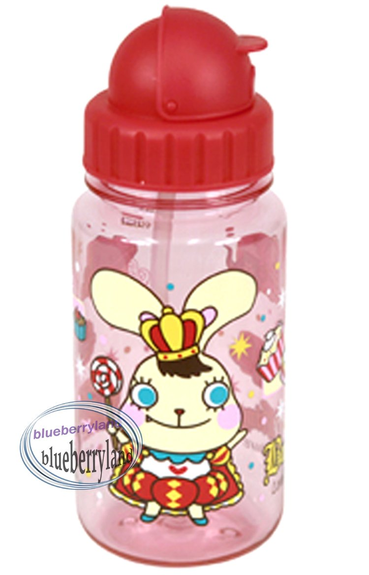 Bunny King Water Bottle with straw drink Container 350ml