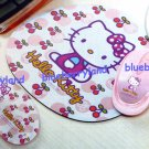 Sanrio Hello Kitty Laptop PC USB Optical Mouse with mouse pad gift set